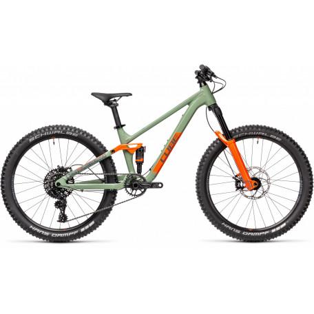 Велосипед детский CUBE STEREO 240 PRO olive´n´orange