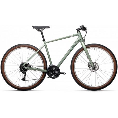 Велосипед туристический CUBE HYDE green´n´grey