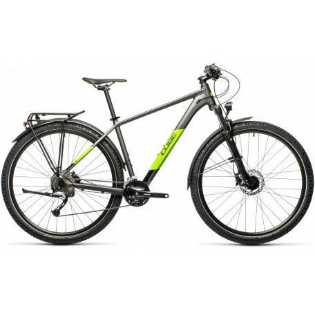 Велосипед хардтейл CUBE 2021 AIM SL ALLROAD grey/green