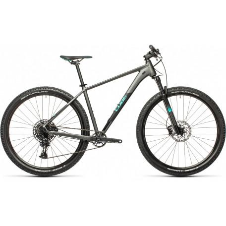 Велосипед хардтейл CUBE 2021 ACID grey´n´aqua