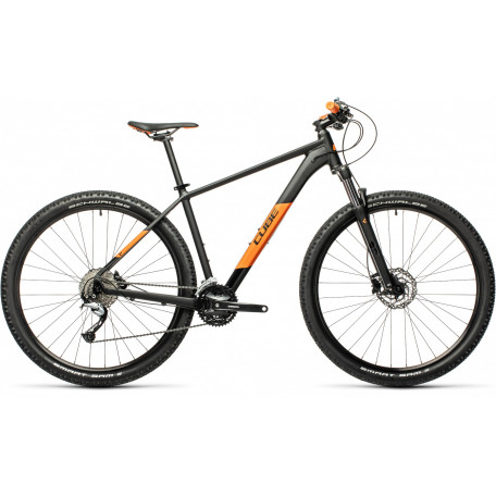 Велосипед хардтейл CUBE 2021 AIM SL black´n´orange