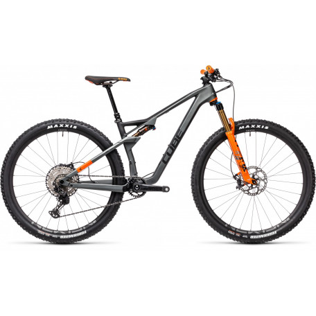 Велосипед двухподвесный CUBE 2021 AMS 100 C:68 TM 29 flashgrey´n´orange
