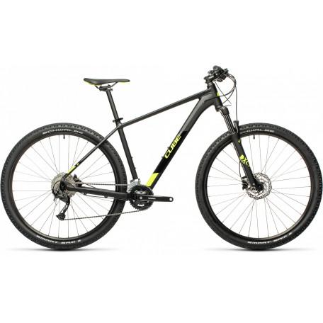 Велосипед хардтейл CUBE 2021 AIM EX black´n´flashyellow