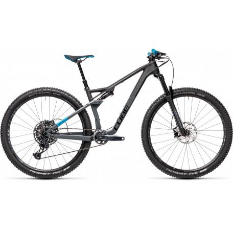 Велосипед двухподвесный CUBE 2021 AMS 100 C:68 RACE 29 carbon´n´blue