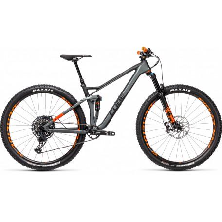 Велосипед двухподвесный CUBE 2021 STEREO 120 HPC TM 29 flashgrey´n´orange
