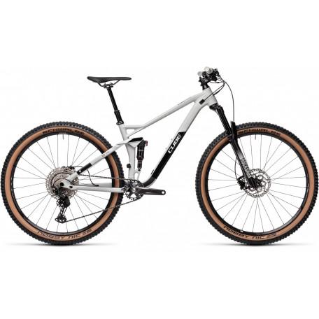 Велосипед двухподвесный CUBE 2021 STEREO 120 RACE 29 lightgrey´n´black
