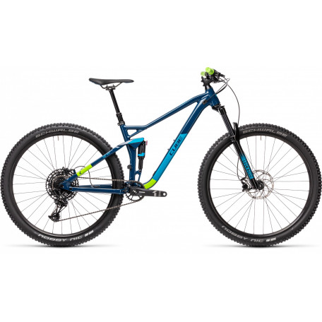 Велосипед двухподвесный CUBE 2021 STEREO 120 PRO 29 blueberry´n´green