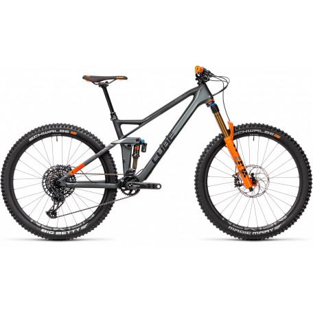 Велосипед двухподвесный CUBE 2021 STEREO 140 HPC TM 27.5 flashgrey´n´orange