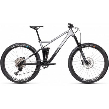 Велосипед двухподвесный CUBE 2021 STEREO 140 HPC SL 27.5 polarsilver´n´black