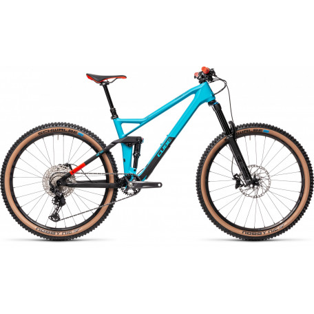 Велосипед двухподвесный CUBE 2021 STEREO 140 HPC RACE 27.5 petrol´n´red