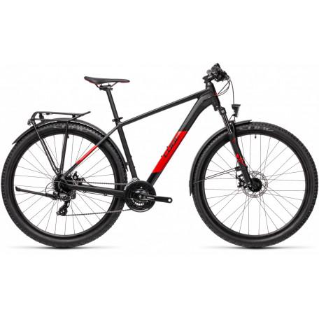 Велосипед хардтейл CUBE 2021 AIM ALLROAD black´n´red
