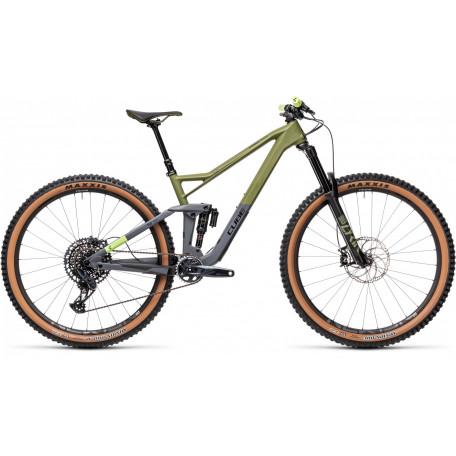 Велосипед двухподвесный CUBE 2021 STEREO 150 C:62 RACE 29 olive´n´grey