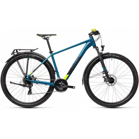 Велосипед хардтейл CUBE 2021 AIM ALLROAD pinetree´n´yellow