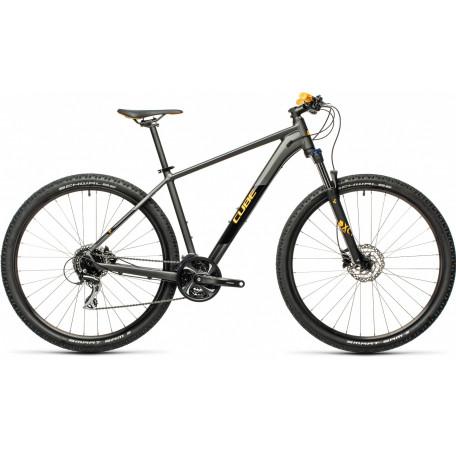 Велосипед хардтейл CUBE 2021 AIM RACE darkgrey´n´orange