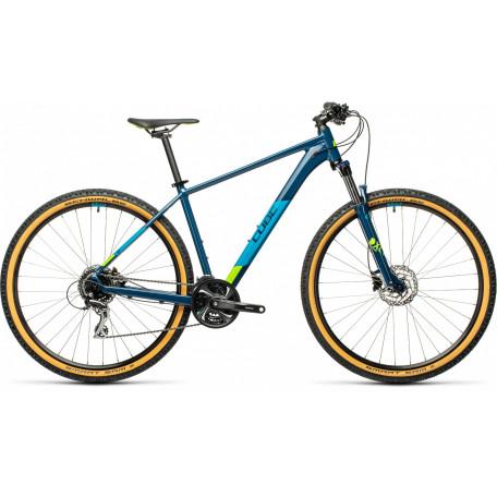 Велосипед хардтейл CUBE 2021 AIM RACE blueberry´n´lime