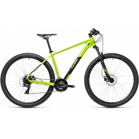 Велосипед хардтейл CUBE 2021 AIM PRO green´n´black