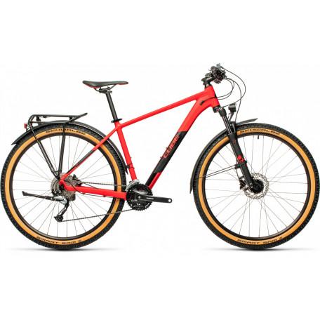 Велосипед хардтейл CUBE 2021 AIM SL ALLROAD red´n´black