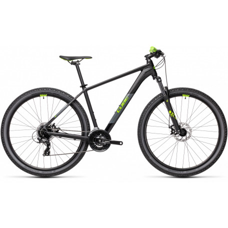 Велосипед хардтейл CUBE 2021 AIM black´n´green