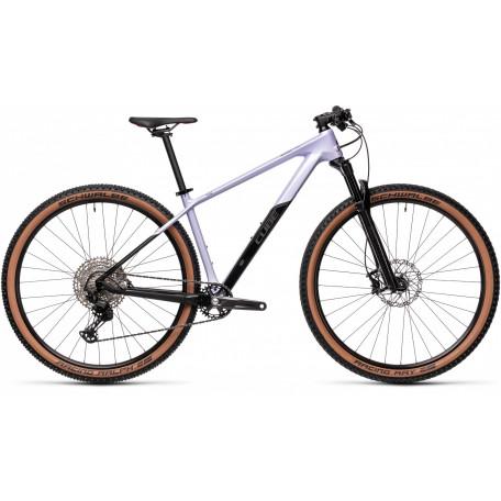 Велосипед двухподвесный женский CUBE ACCESS WS C: 62 Pro violetwhite´n´carbon