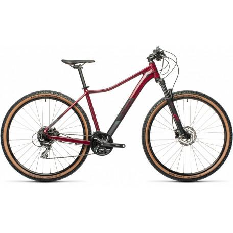 Велосипед двухподвесный женский CUBE ACCESS WS EXC darkberry´n´black