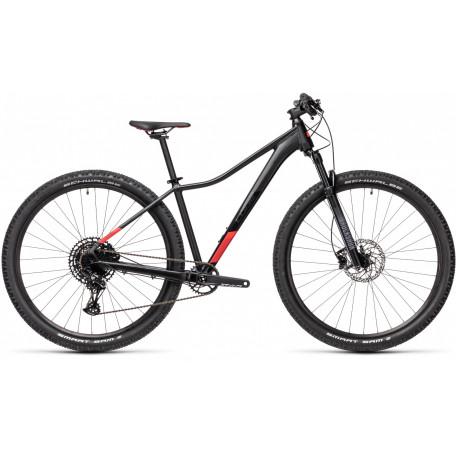 Велосипед двухподвесный женский CUBE ACCESS WS SL black´n´coral