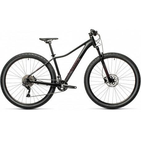 Велосипед двухподвесный женский CUBE ACCESS WS RACE black´n´hazypurple