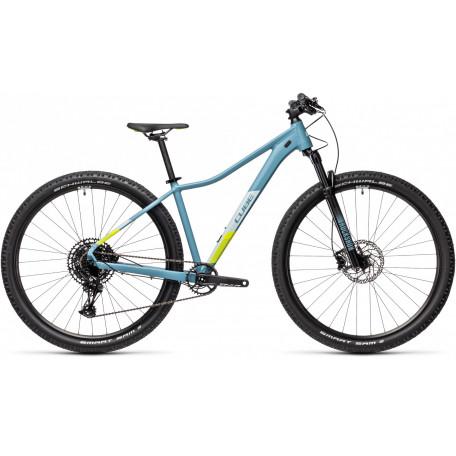 Велосипед двухподвесный женский CUBE ACCESS WS SL greyblue´n´lime