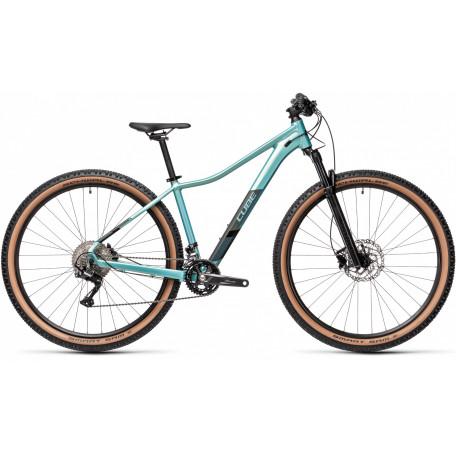 Велосипед двухподвесный женский CUBE ACCESS WS RACE sagemetallic´n´silver