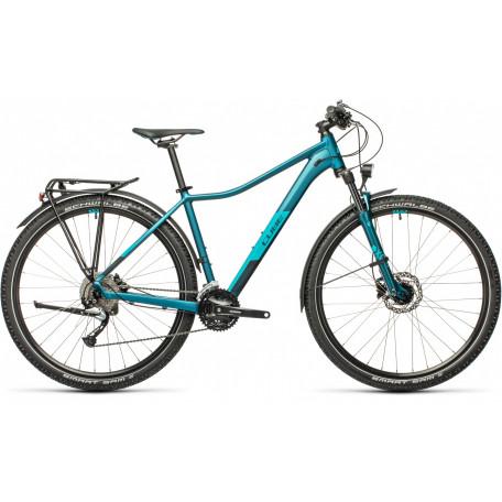 Велосипед двухподвесный женский CUBE ACCESS WS PRO ALLROAD stoneblue´n´blue