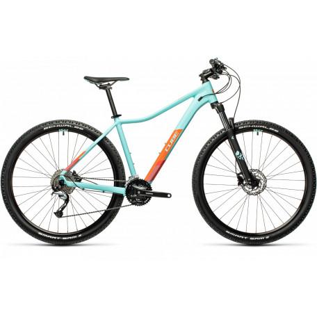 Велосипед двухподвесный женский CUBE ACCESS WS PRO iceblue´n´orange